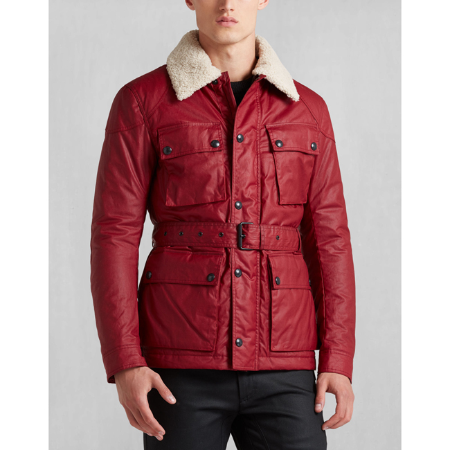 Men Belstaff CIRCUITMASTER AW16 JACKET RACING RED Outlet Online