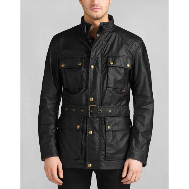 Men Belstaff THE ROADMASTER JACKET BLACK Outlet Online
