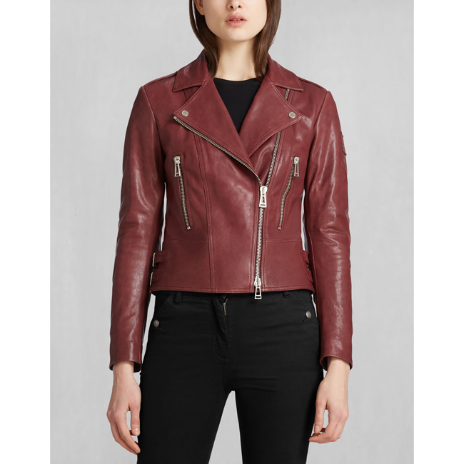 Women Belstaff MARVING-T BLOUSON CLARET Outlet Online