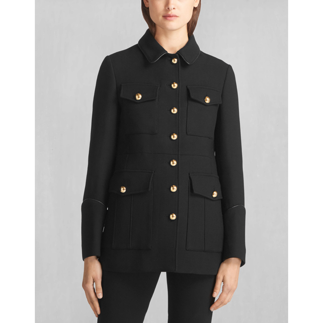 Women Belstaff LIV TYLER NEEL COAT BLACK Outlet Online
