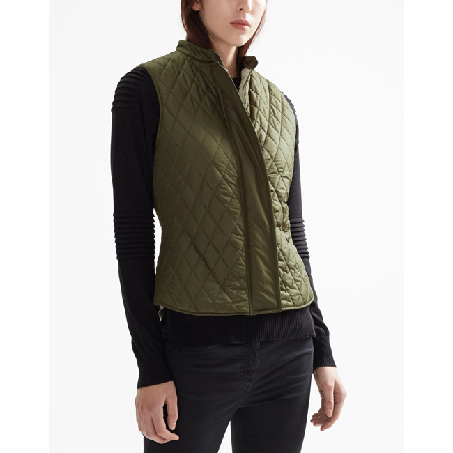 Women Belstaff WALSTEAD VEST FADED OLIVE Outlet Online
