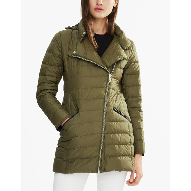 Women Belstaff FRAMLINGHAM DOWN COAT SAGE GREEN Outlet Online