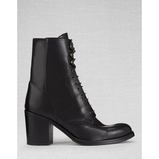Women Belstaff LIV TYLER HINDLEY SHORT BOOTS  BLACK Outlet Online