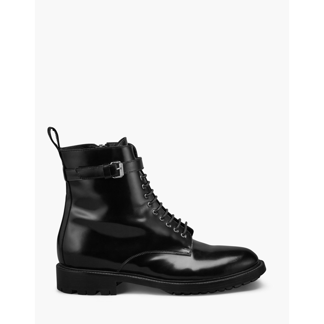 Women Belstaff FINLEY COMBAT BOOT  BLACK Outlet Online