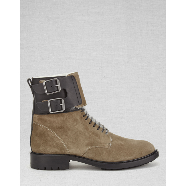 Women Belstaff THAYER SHORT BOOTS FLINT Outlet Online