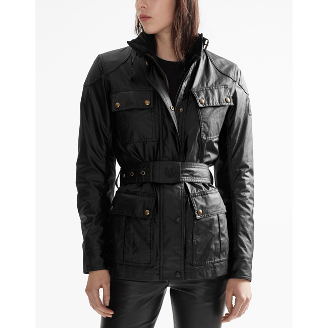 Women Belstaff CLASSIC TOURIST TROPHY 4-POCKET MOTORCYCLE JACKET BLACK Outlet Online