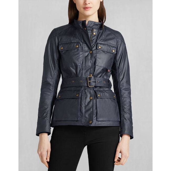 Women Belstaff ROADMASTER JACKET NAVY BLUE Outlet Online