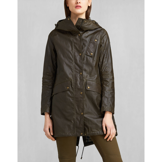 Women Belstaff PAYNE PARKA FADED OLIVE Outlet Online